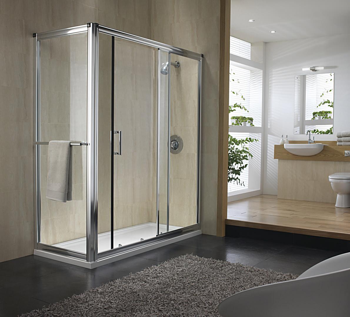 Twyford hydr8 sliding shower door 1500mm for 1500 sliding shower door
