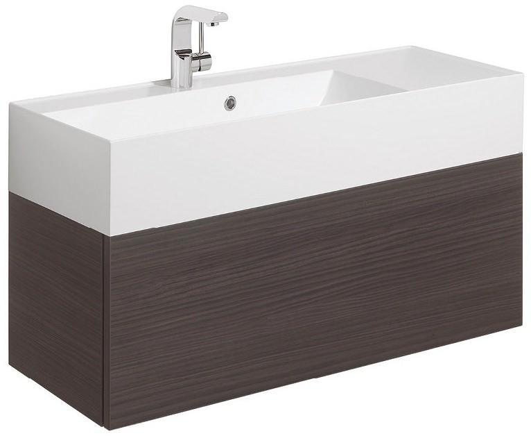 Bauhaus elite anthracite 1000mm single drawer basin unit for 1000mm kitchen drawer unit