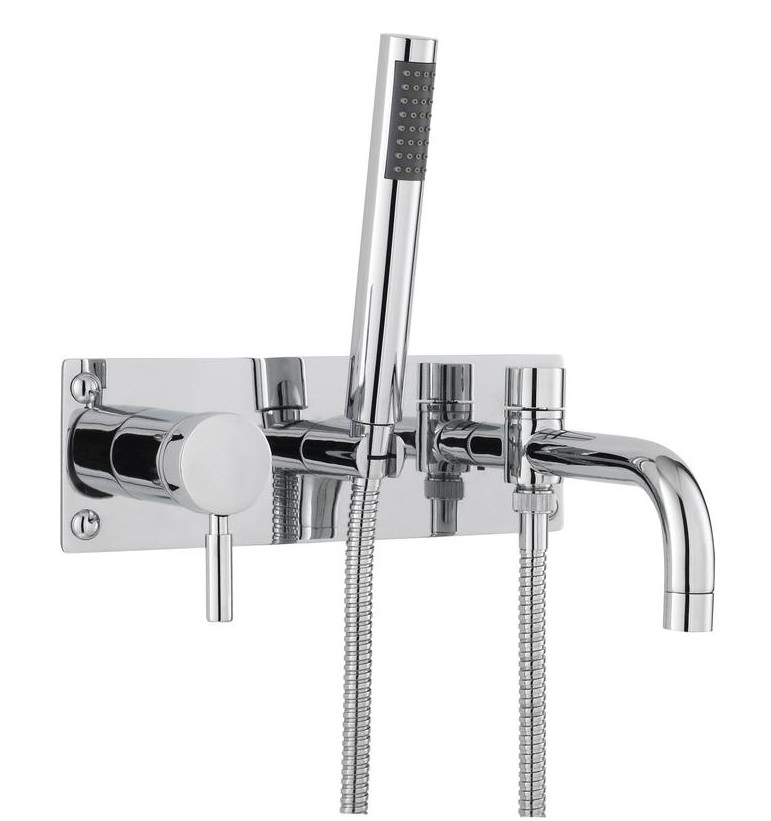 Twirl Wall Mounted Bath Shower Mixer Tap With Kit