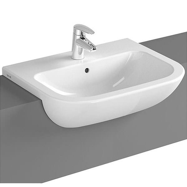 VitrA S20 1TH 55cm Semi Recessed Basin
