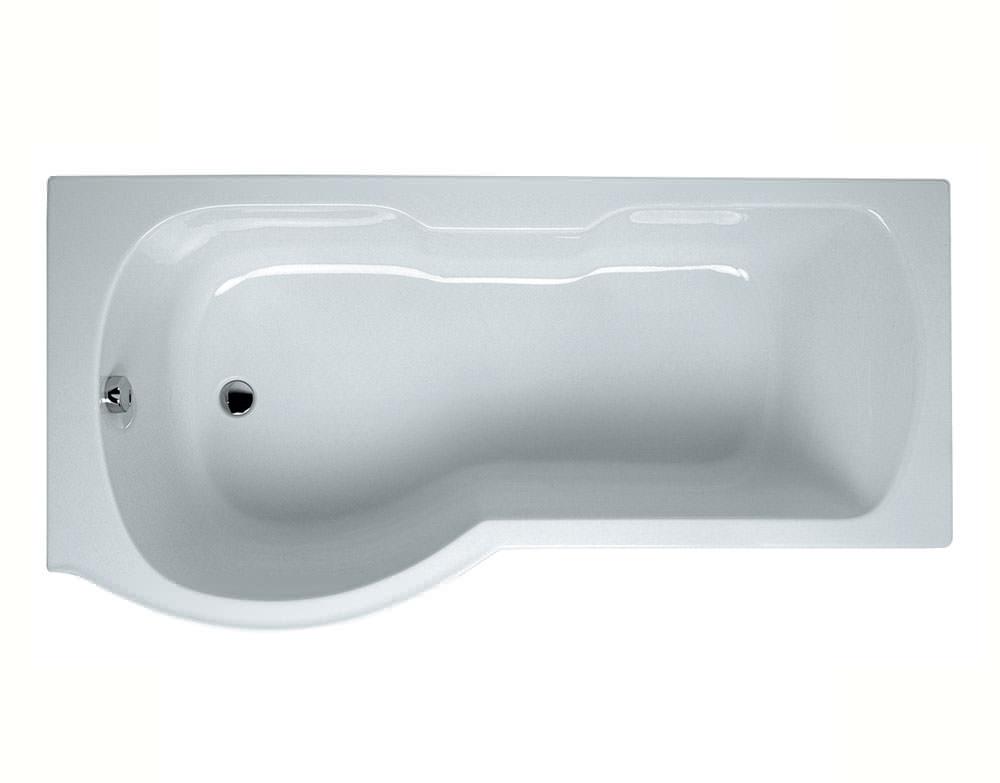 VitrA Optima 1700 X 700mm Left Handed Shower Bath White