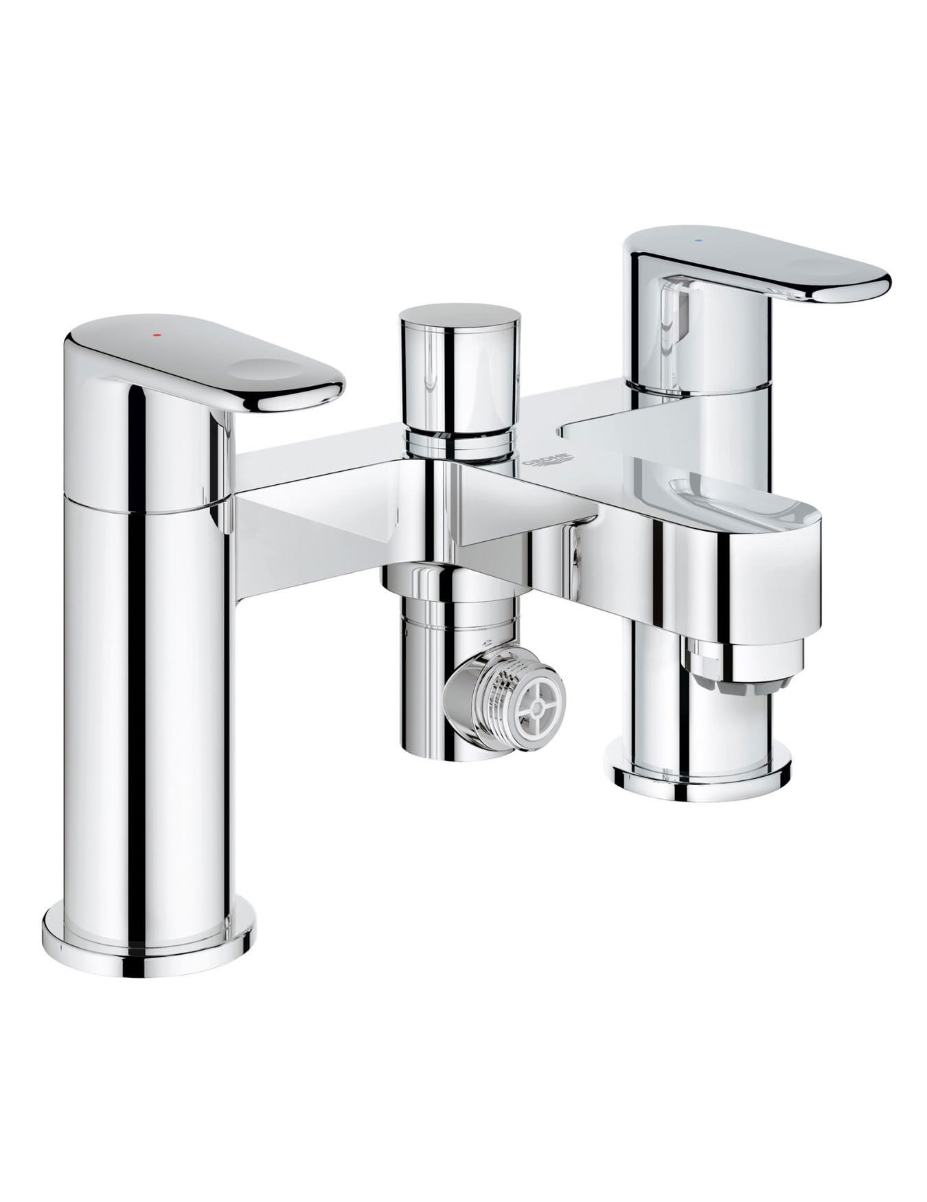 Europlus Deck Mounted Bath Shower Mixer Tap Chrome