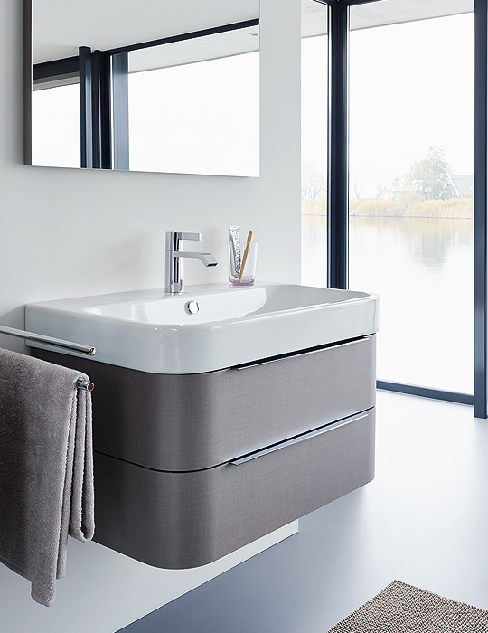 Duravit Happy D2 775mm White Wall Mounted Vanity Unit With Basin