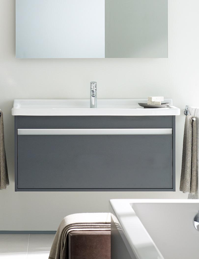 duravit ketho single drawer 550mm vanity unit with 600mm basin