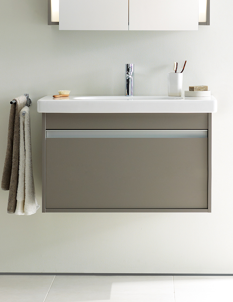 Duravit Ketho 650mm Vanity Unit With 1 Drawer And 700mm Basin