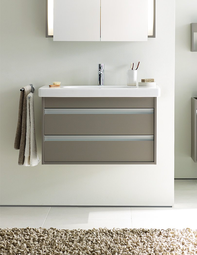 Ketho 650mm Vanity Unit With 2 Drawer And 700mm Basin