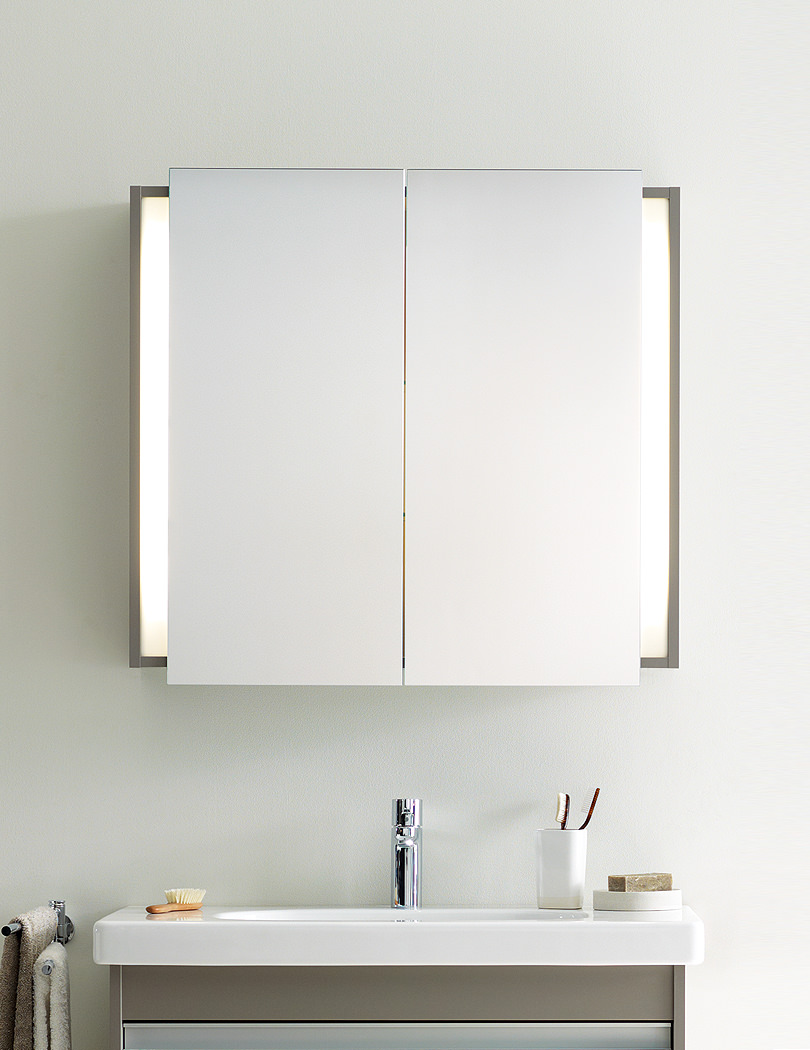Ketho Graphite Matt 800mm Mirror Cabinet