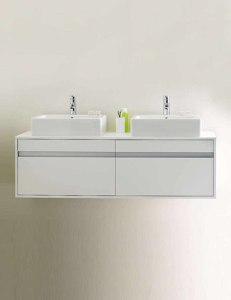 Duravit Ketho 1400 X 550mm Wall Mounted 2 Drawer Unit For