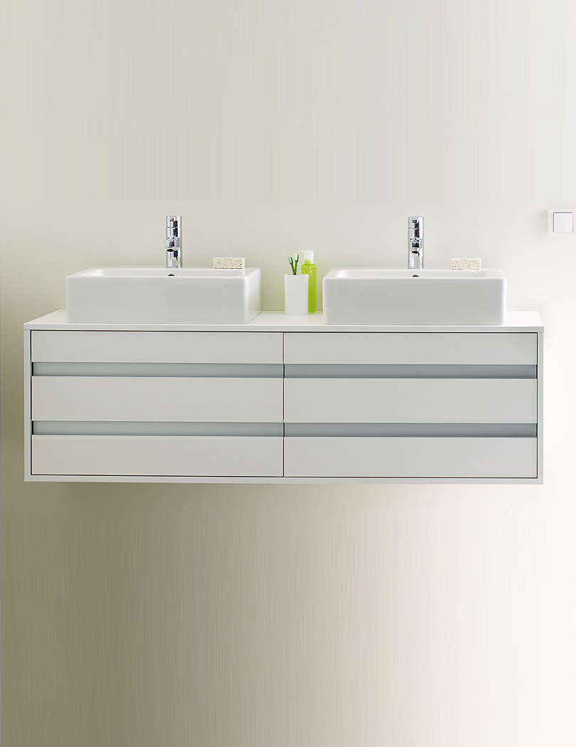 Duravit Ketho 550 x 1400mm Wall Hung Vanity Unit With 4 Drawers