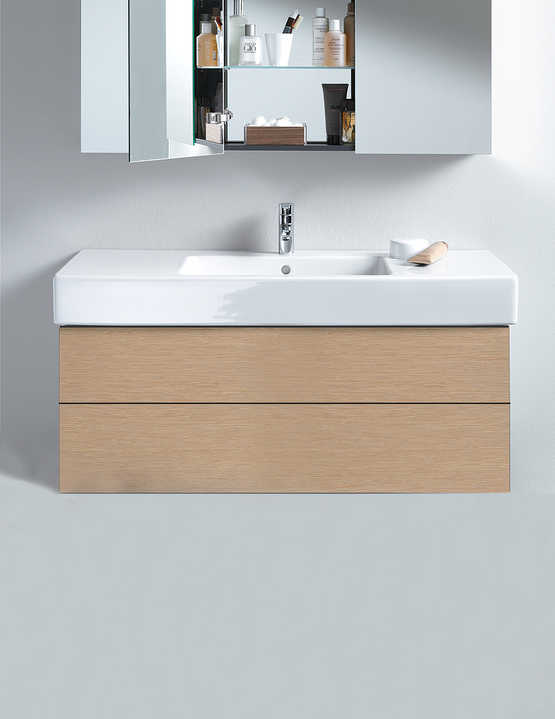 duravit delos 470 x 1200mm 2 drawer vanity unit with 1250mm basin