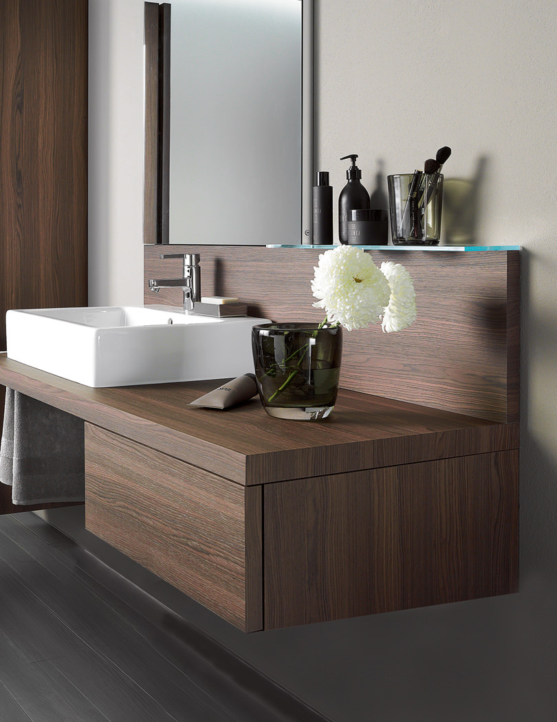 duravit cabinets bathrooms duravit delos brushed walnut 565 x 600mm floor cabinet 15089
