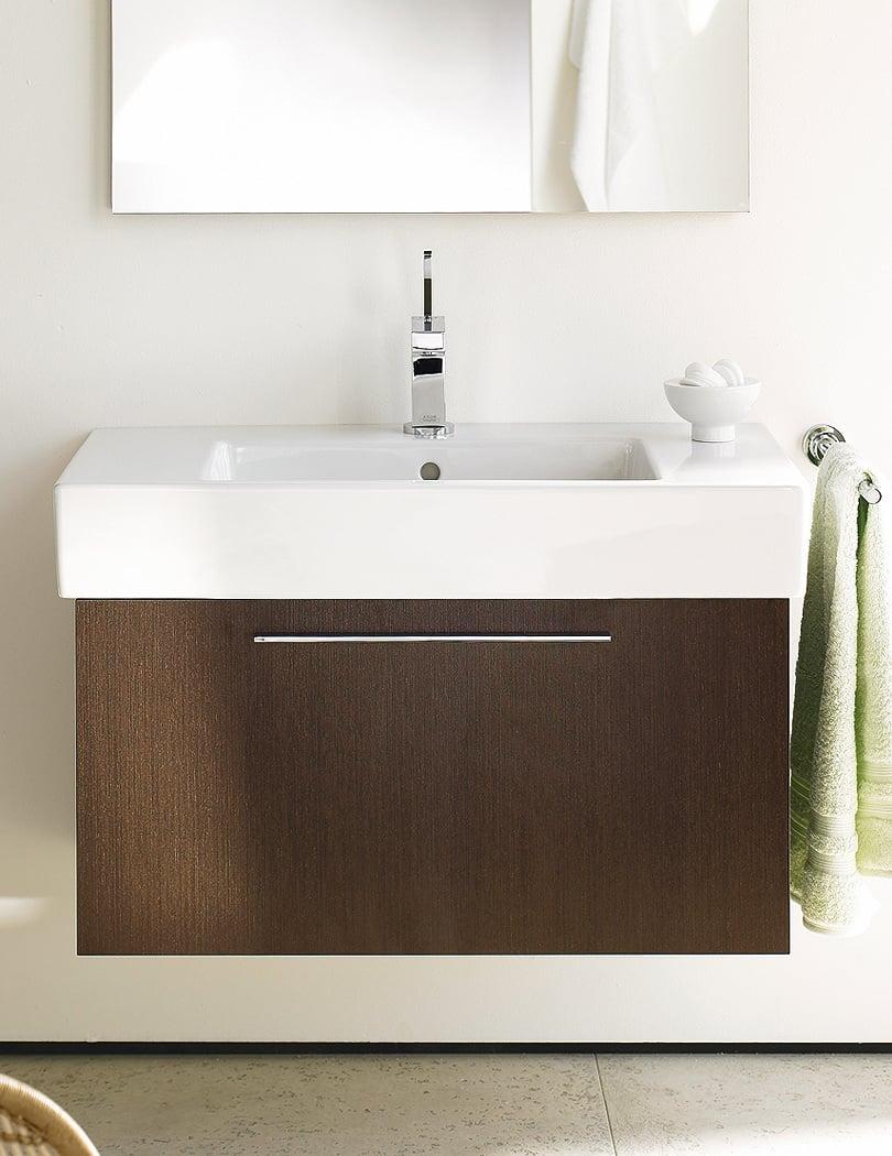 duravit xlarge chestnut dark 750mm vanity unit with 800mm basin - Duravit Sink