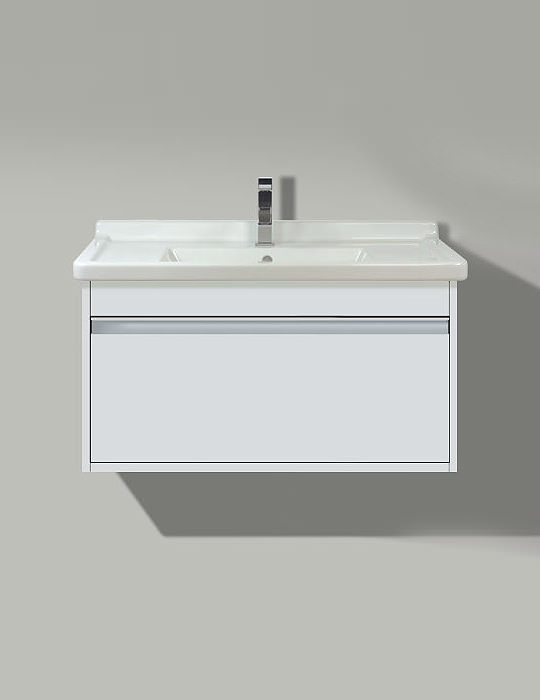 X-Large White 800 x 468mm Vanity Unit With Starck 3 850mm Basin