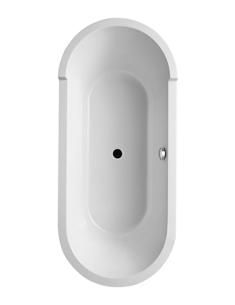 Starck 1800 x 800mm Oval Double Ended Freestanding Bath