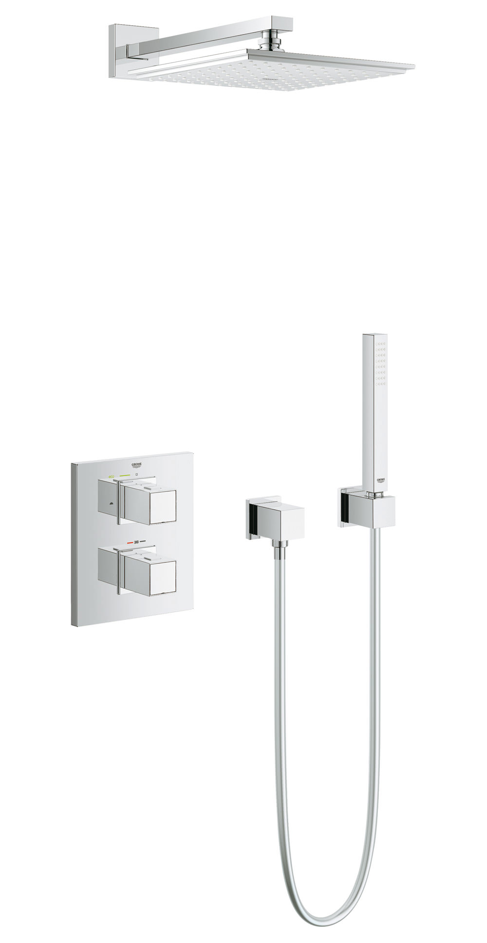 arms dp com eurocube shower only and grohe trim bars amazon single kit slide handle