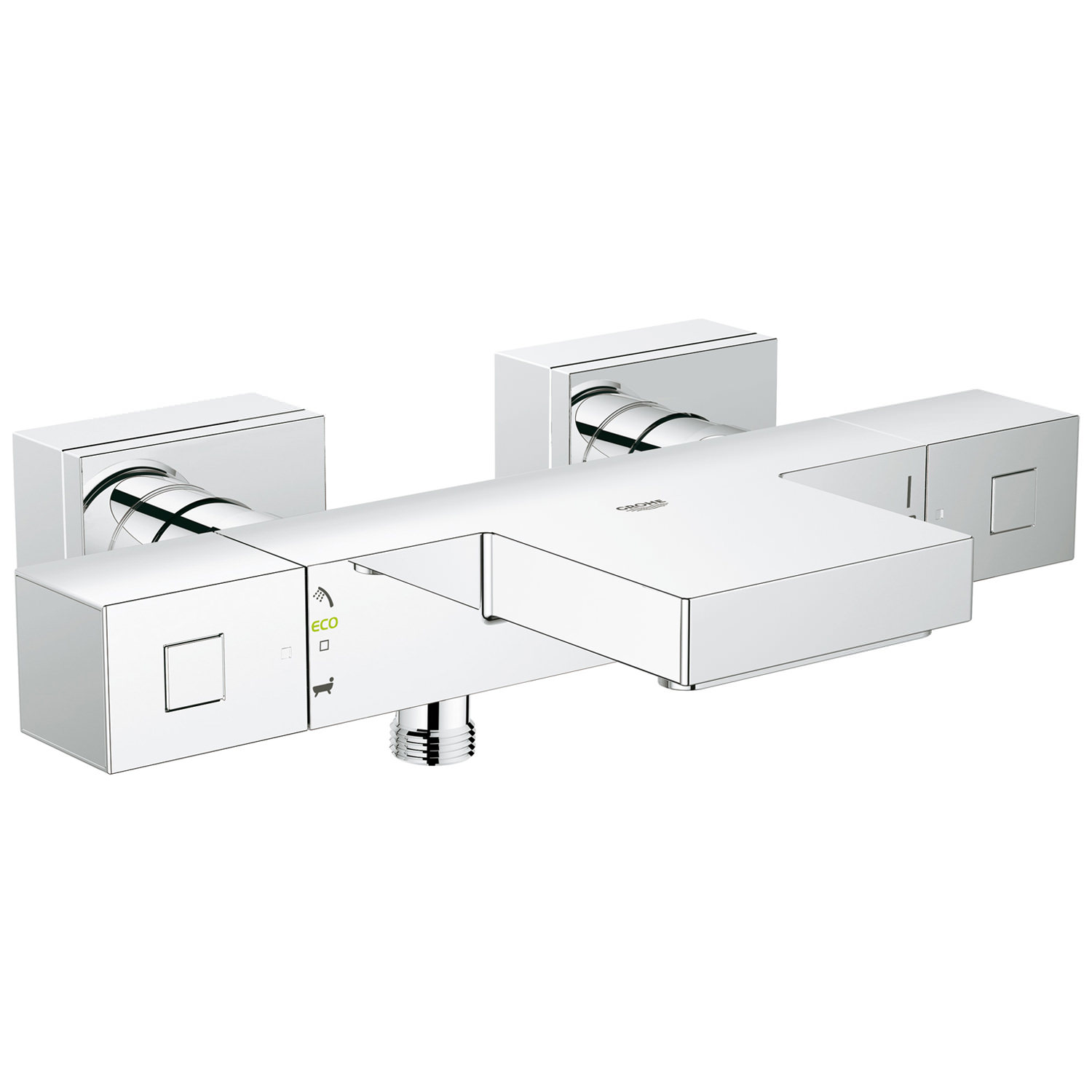 grohe grohtherm cube thermostatic wall mount bath shower mixer tap. Black Bedroom Furniture Sets. Home Design Ideas