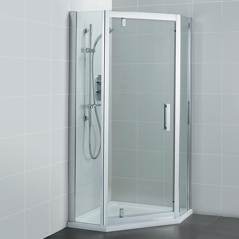 Ideal Standard Synergy 800 x 1900mm Pivot Door Pentagon Shower Enclosure