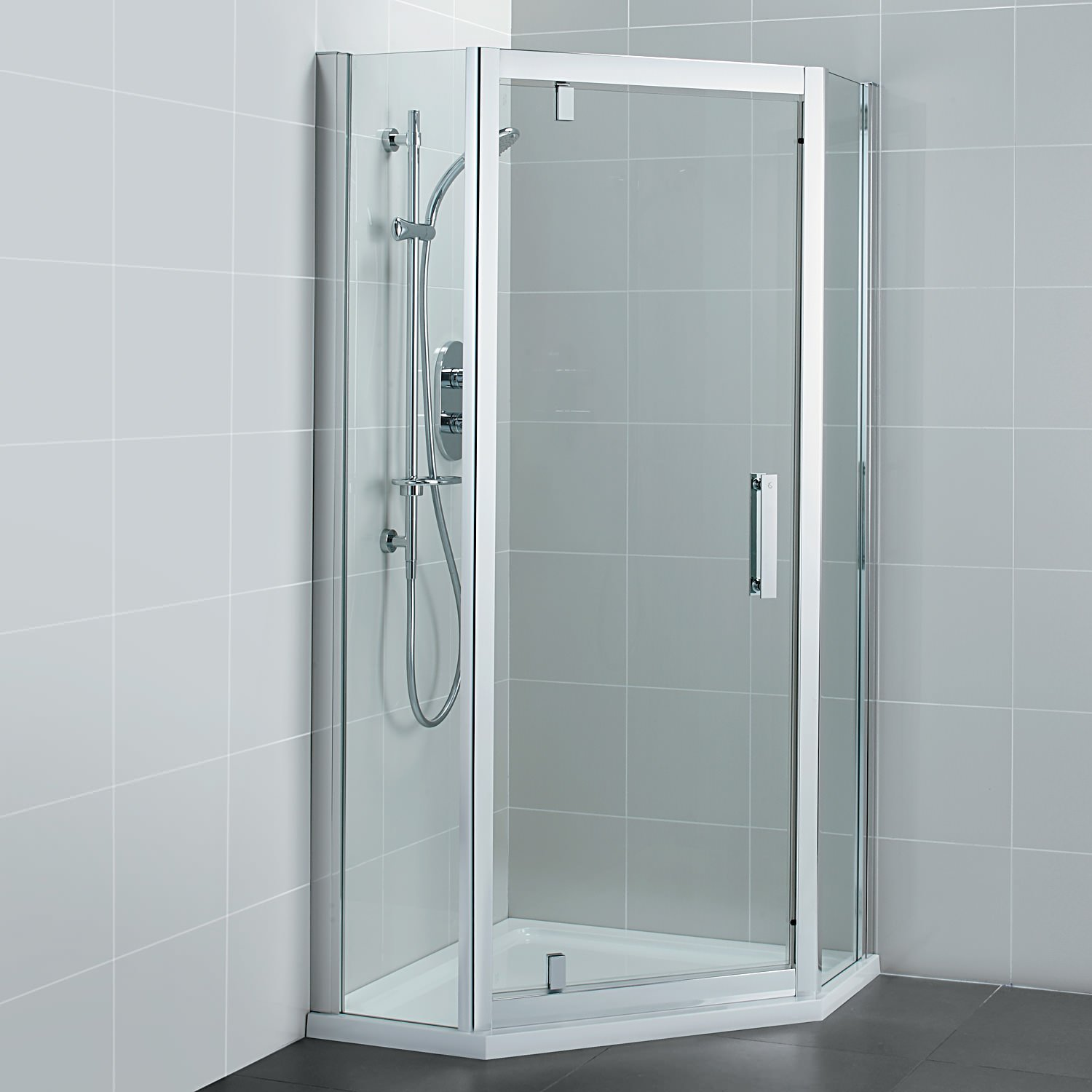 Ideal Standard Synergy 900mm Pivot Door Pentagon Shower