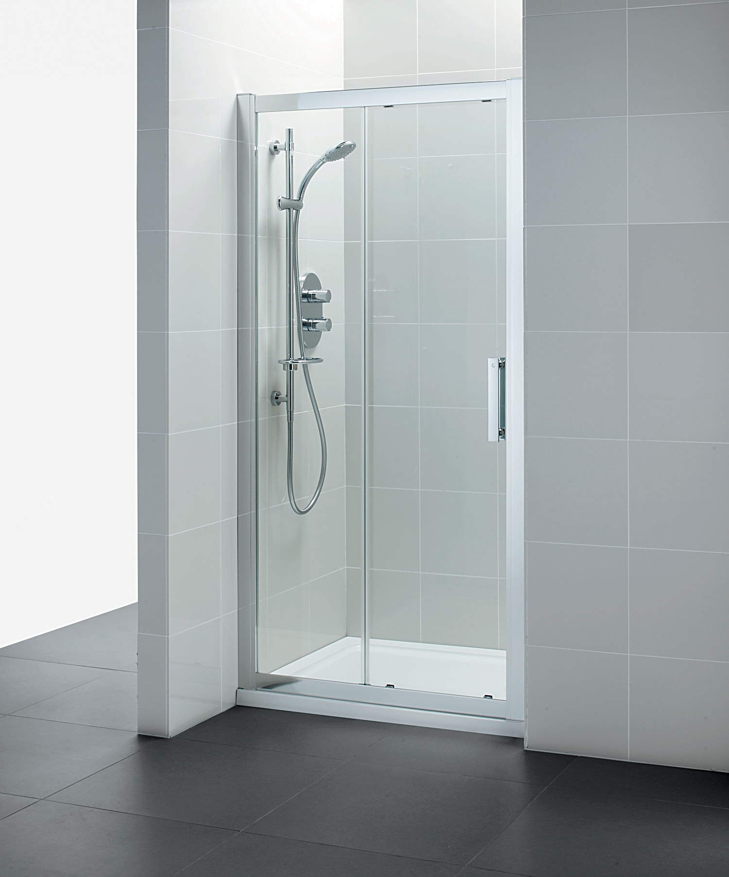 Ideal standard synergy sliding shower door 1200mm for 1200mm shower door sliding