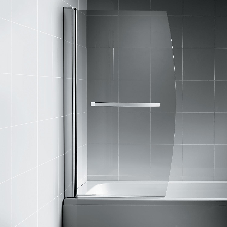 Ideal Standard Synergy Bow Bath Screen With Towel Rail