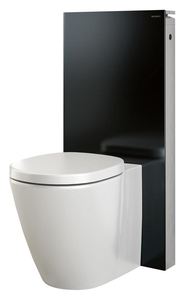 geberit black monolith sanitary module for floor standing wc. Black Bedroom Furniture Sets. Home Design Ideas