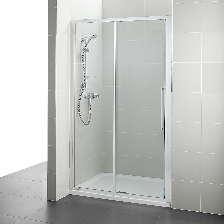 Ideal standard kubo 1000mm slider shower door for 1000mm door