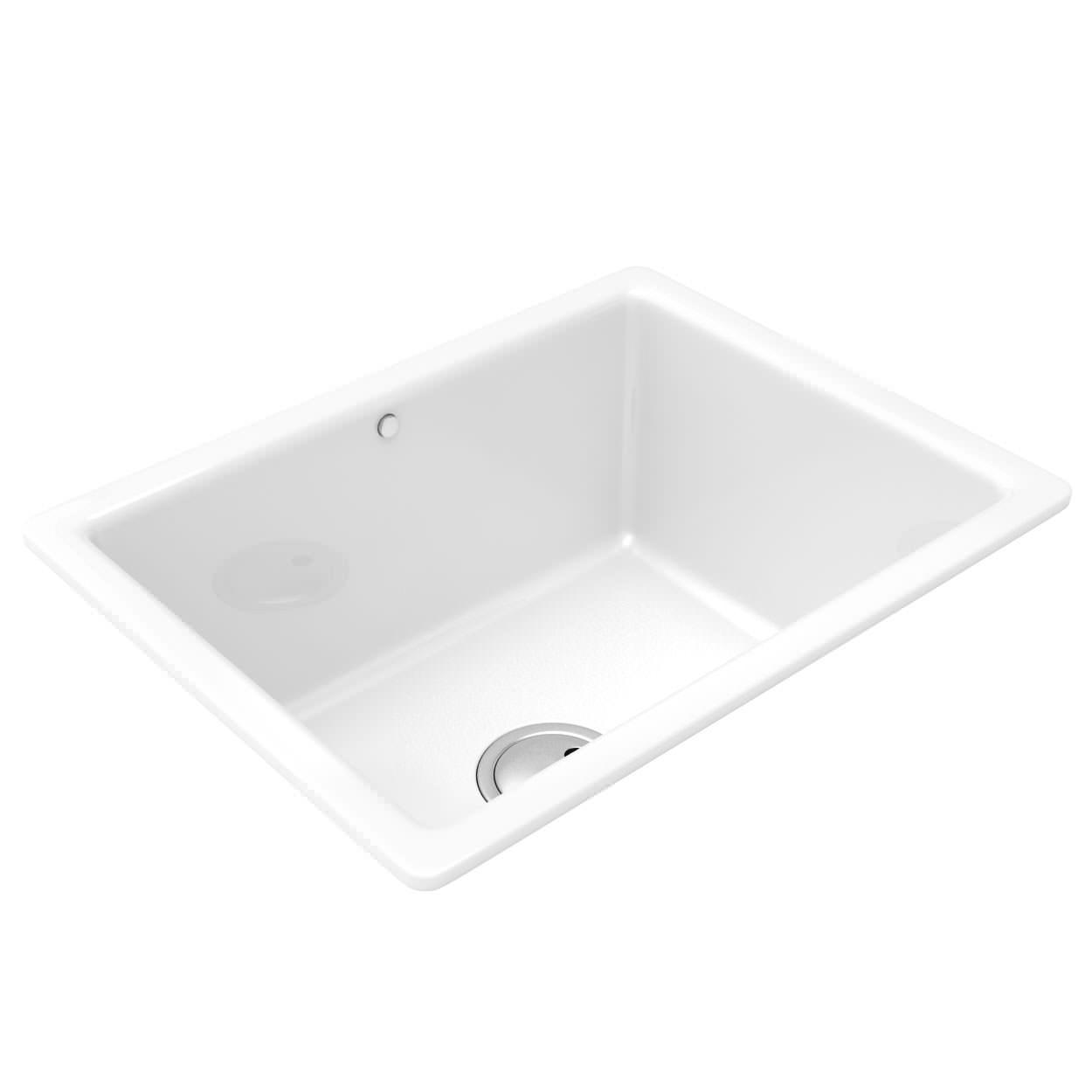 Abode Matrix CR25 1.0 Bowl Undermount Or Inset Ceramic Sink