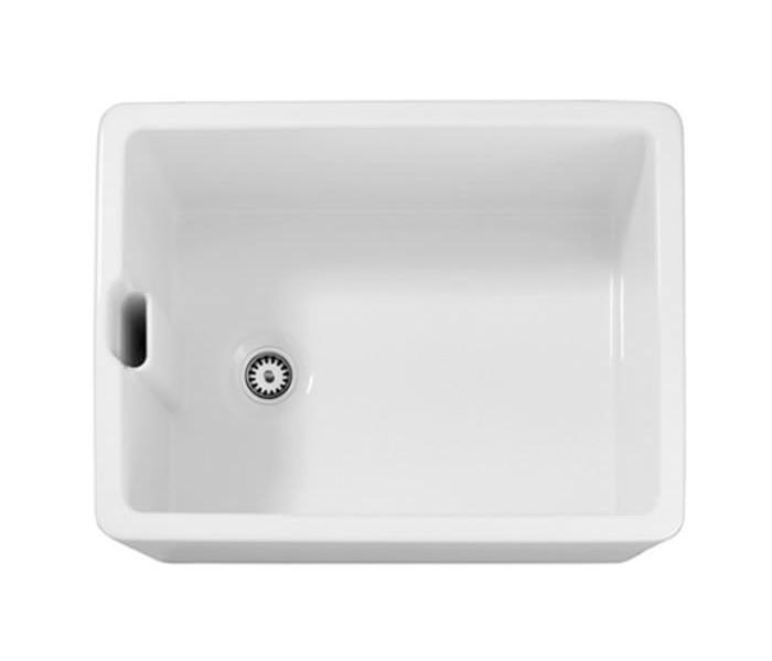 Abode Belfast 1.0 Bowl White Ceramic Undermount Or Inset Sink