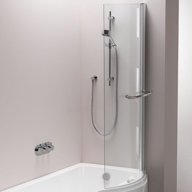 Pura Arco 800 x 1500mm Left/Right Hand Hinged Shower Bath Screen