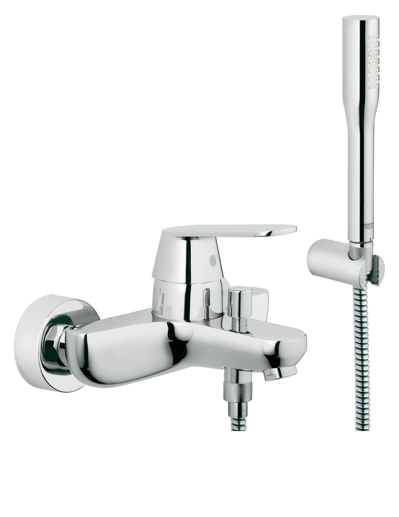 Eurosmart Cosmopolitan Wall Mounted Bath Shower Mixer With Kit