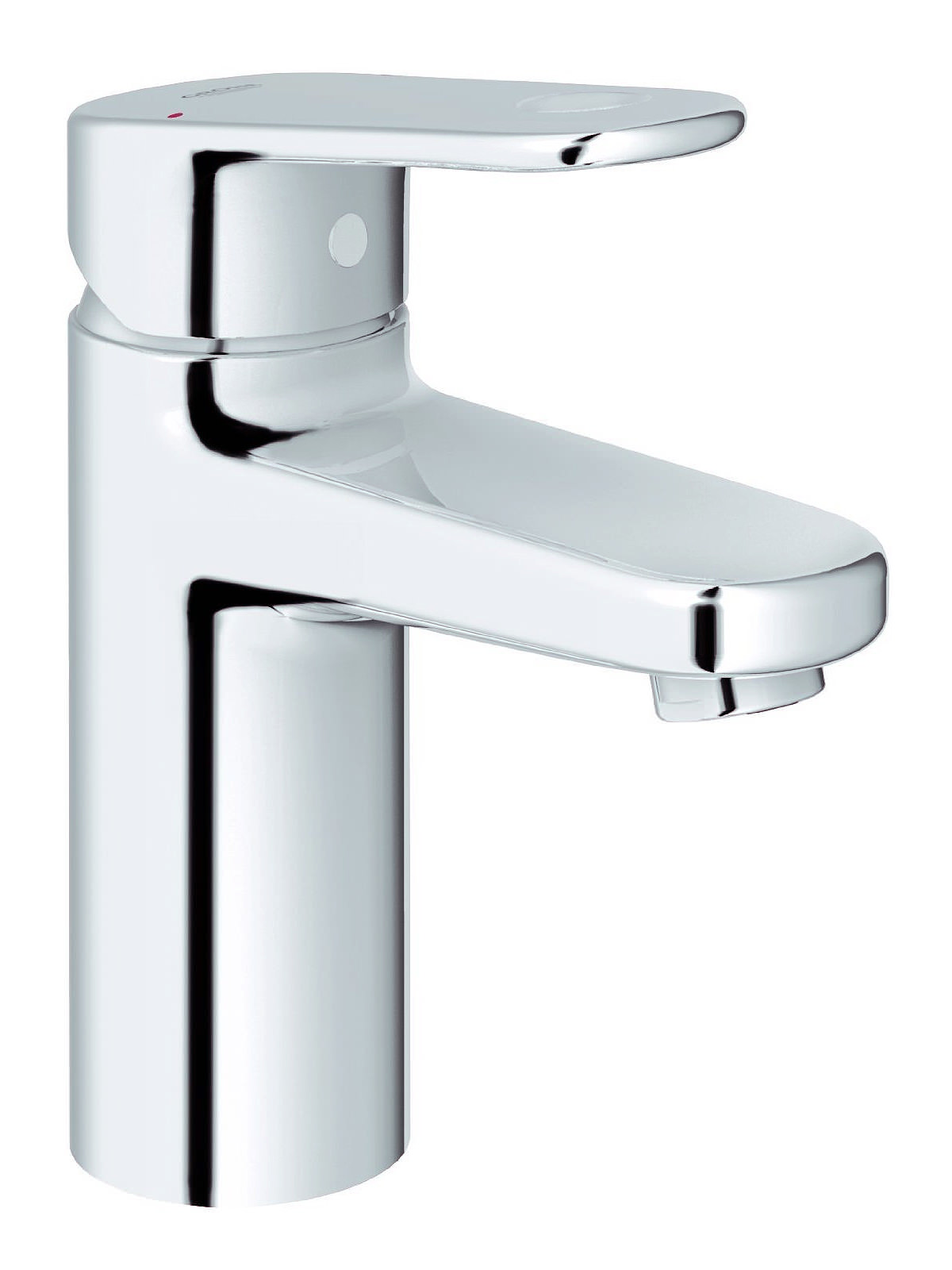 Grohe Europlus Smooth Body Mono Basin Mixer Tap With Metal Lever
