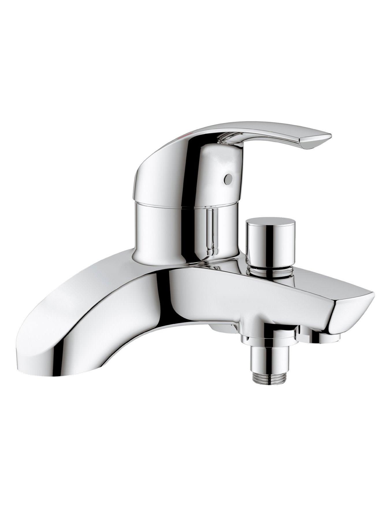 grohe eurosmart single lever deck mounted bath shower mixer tap. Black Bedroom Furniture Sets. Home Design Ideas