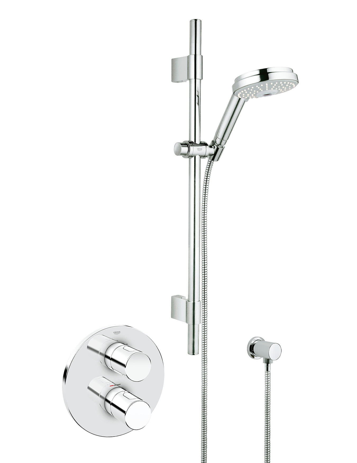 grohe grohtherm 3000 cosmopolitan concealed thermostatic shower set. Black Bedroom Furniture Sets. Home Design Ideas