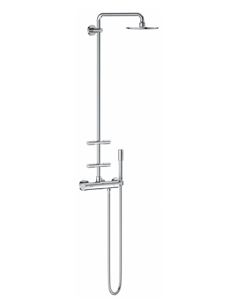 Grohe Rainshower Exposed Thermostatic Shower System With Head