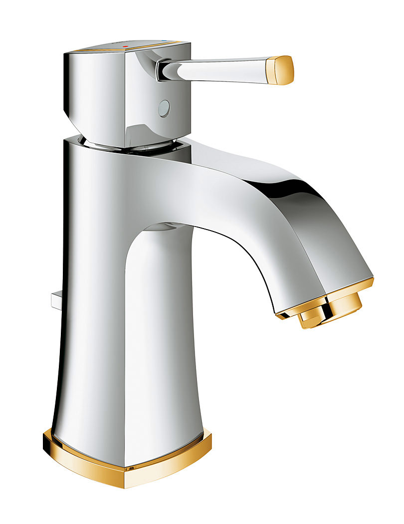 Grohe Küchenarmatur Gold ~ grohe spa grandera basin mixer tap with pop up waste chrome gold