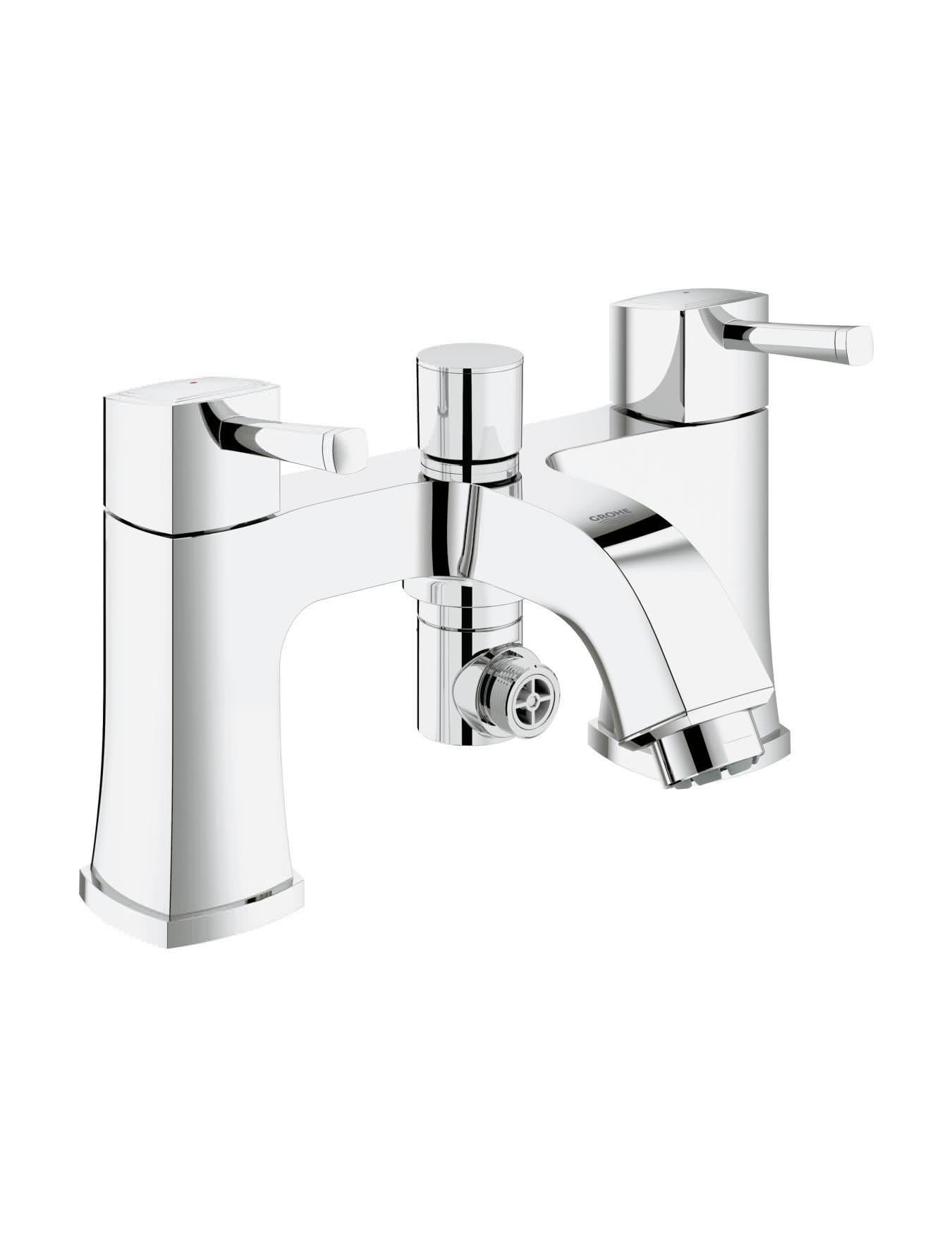grohe spa grandera two handled bath shower mixer tap. Black Bedroom Furniture Sets. Home Design Ideas