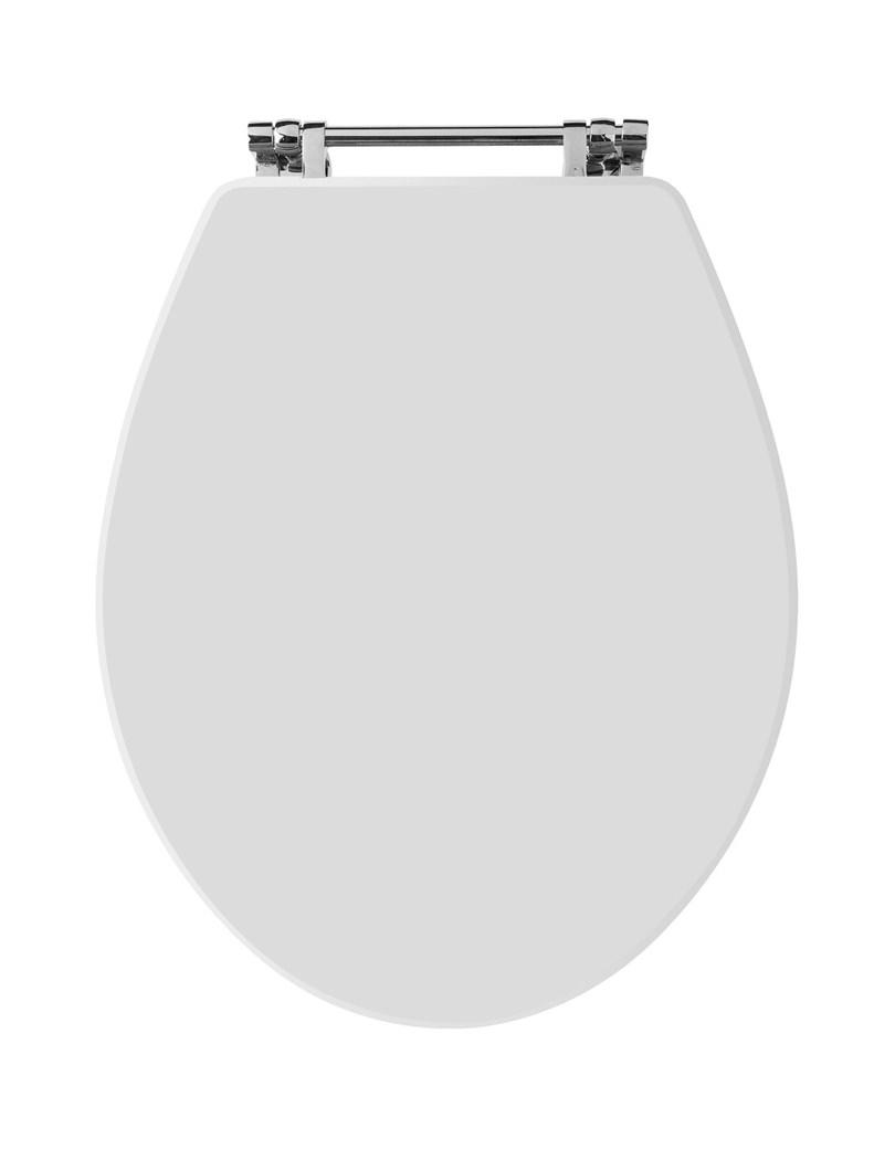 Hudson Reed Richmond Top Fix Toilet Seat White Nls199