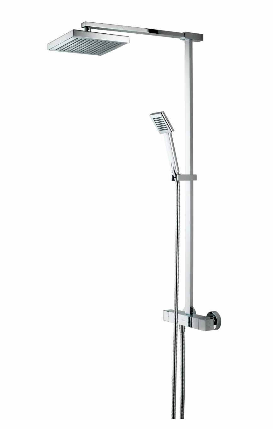 Kitchen cabinets assembled - Bristan Quadrato Thermostatic Surface Mounted Shower Valve