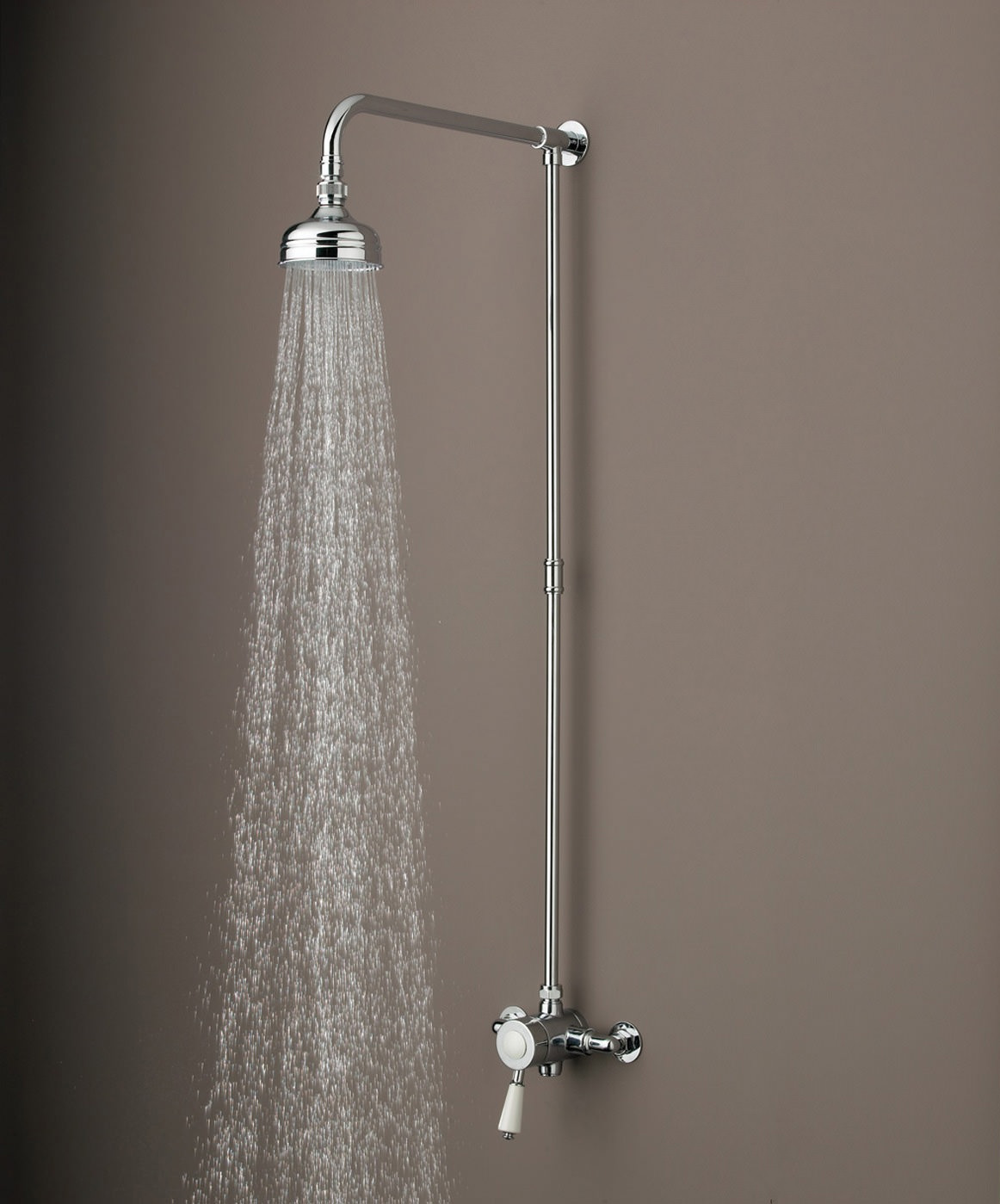 Bristan Colonial Thermostatic Surface Mounted Shower Valve With Rigid Riser