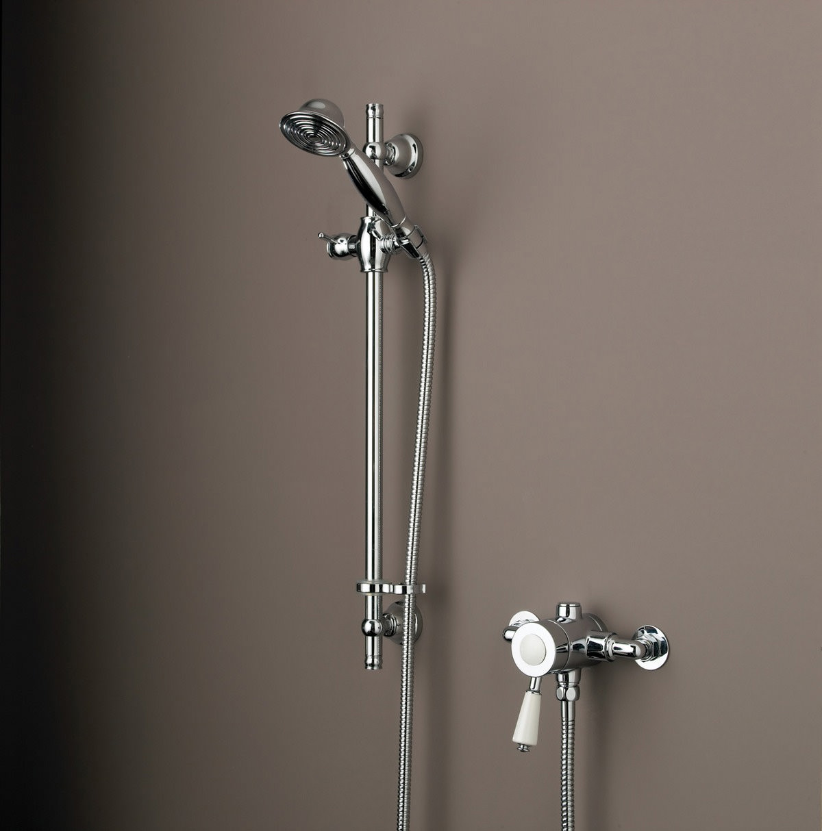 Bristan Colonial Thermostatic Surface Mounted Shower Valve Chrome