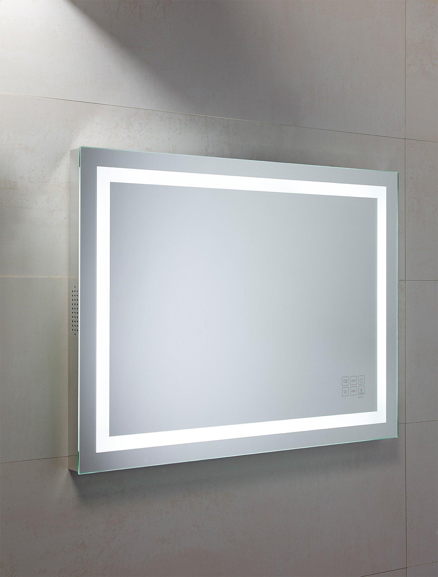 Roper rhodes beat 800mm illuminated bluetooth mirror for Illuminated mirrors