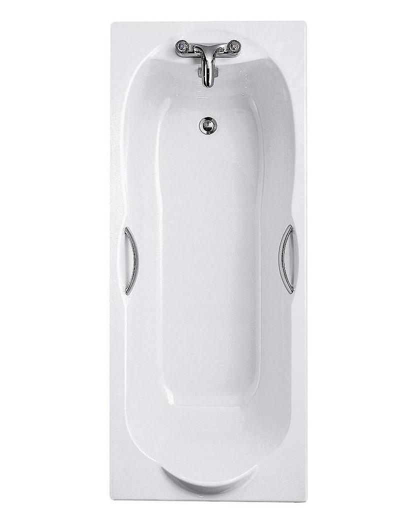 Ideal Standard Alto 170x70cm 2 Tap Hole Idealform Bath With Grips