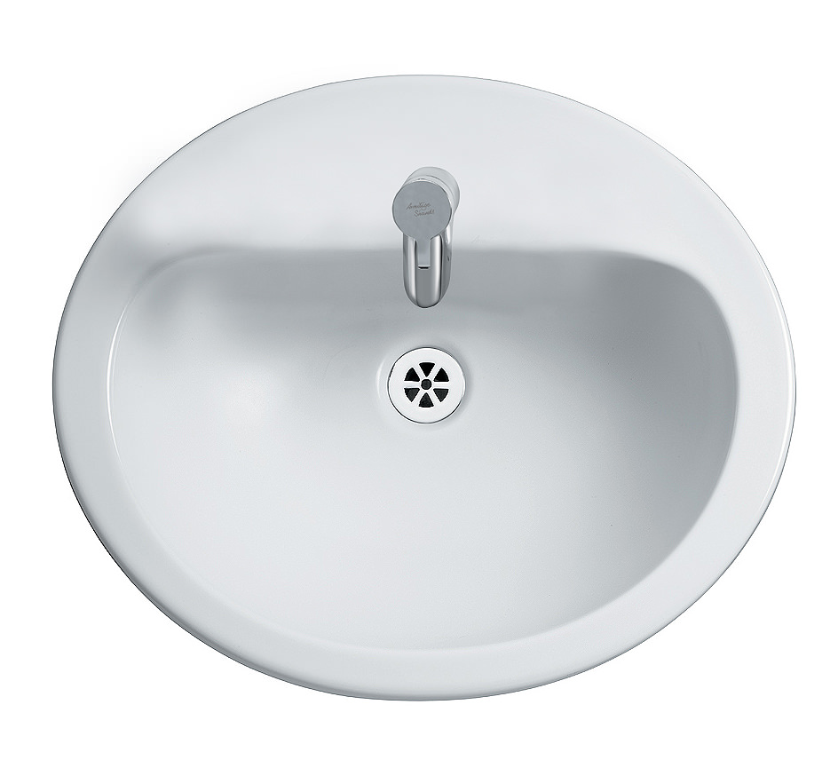 Armitage shanks bathroom sinks - Armitage Shanks Orbit 21 Countertop 550mm 1 Tap Hole Washbasin