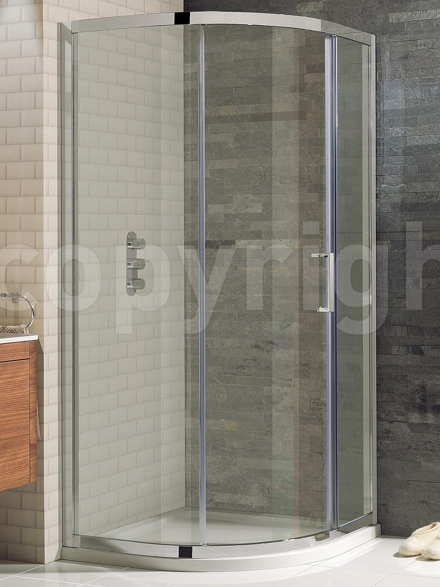 Simpsons Elite Offset Quadrant Single Door 1000 x 800mm & Simpsons Elite Shower Enclosures - Mirrored Hinged Doors