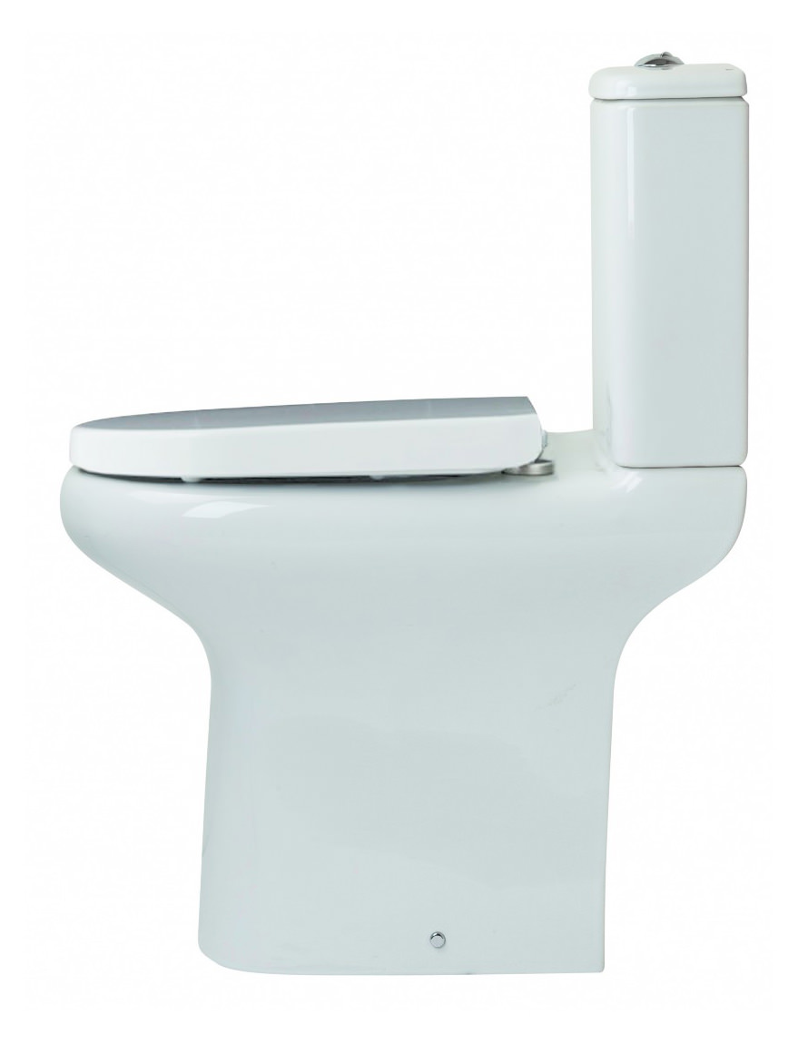 Essential Lily Comfort Height Open Back WC Pan With Seat