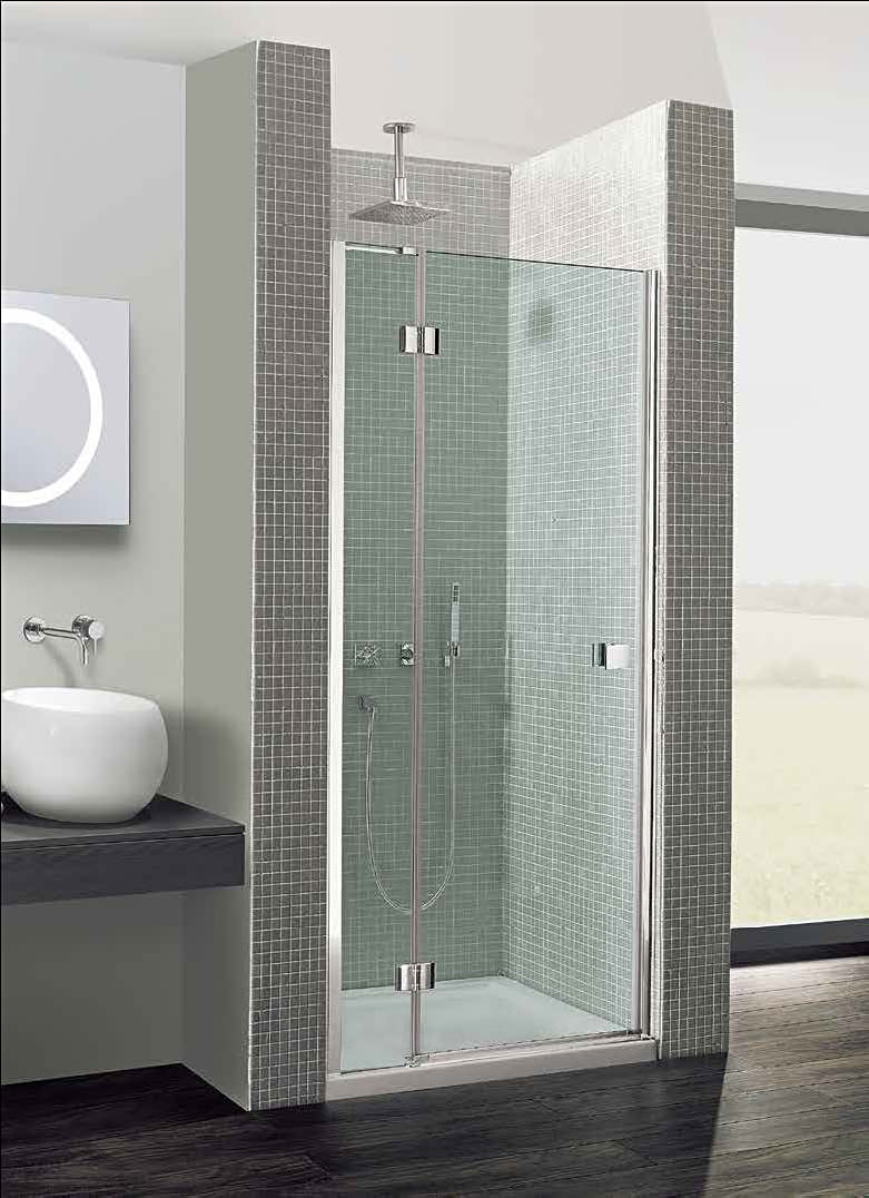 Simpsons Design Hinged Door With Inline Panel 900mm