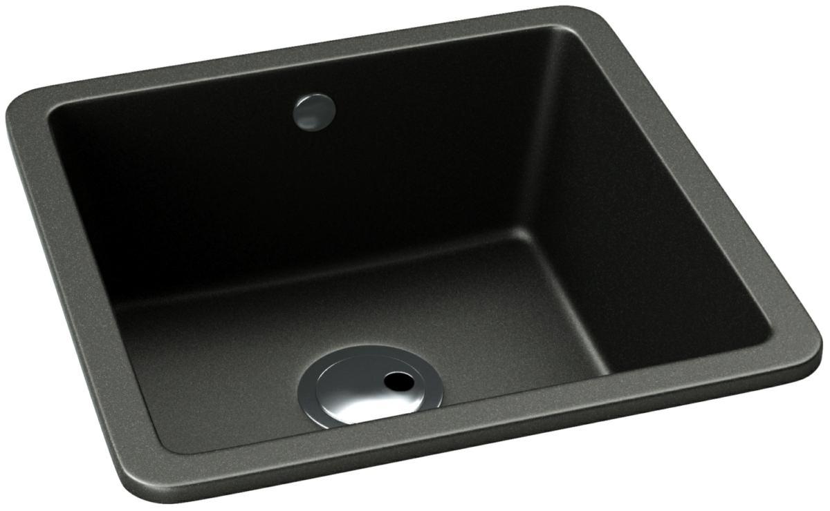 Matrix sq gr15 black metallic granite single bowl kitchen sink abode matrix sq gr15 black metallic granite single bowl kitchen sink workwithnaturefo
