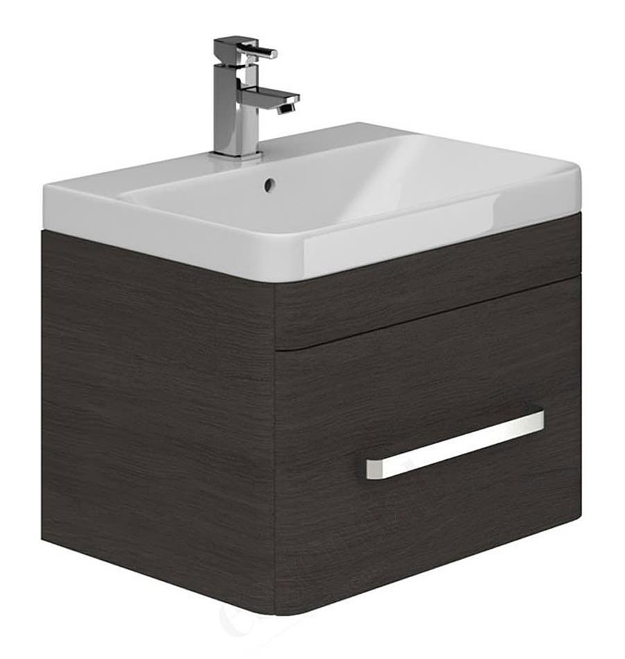 Essential Vermont 600mm Wall Hung Vanity Unit And Basin Dark Grey