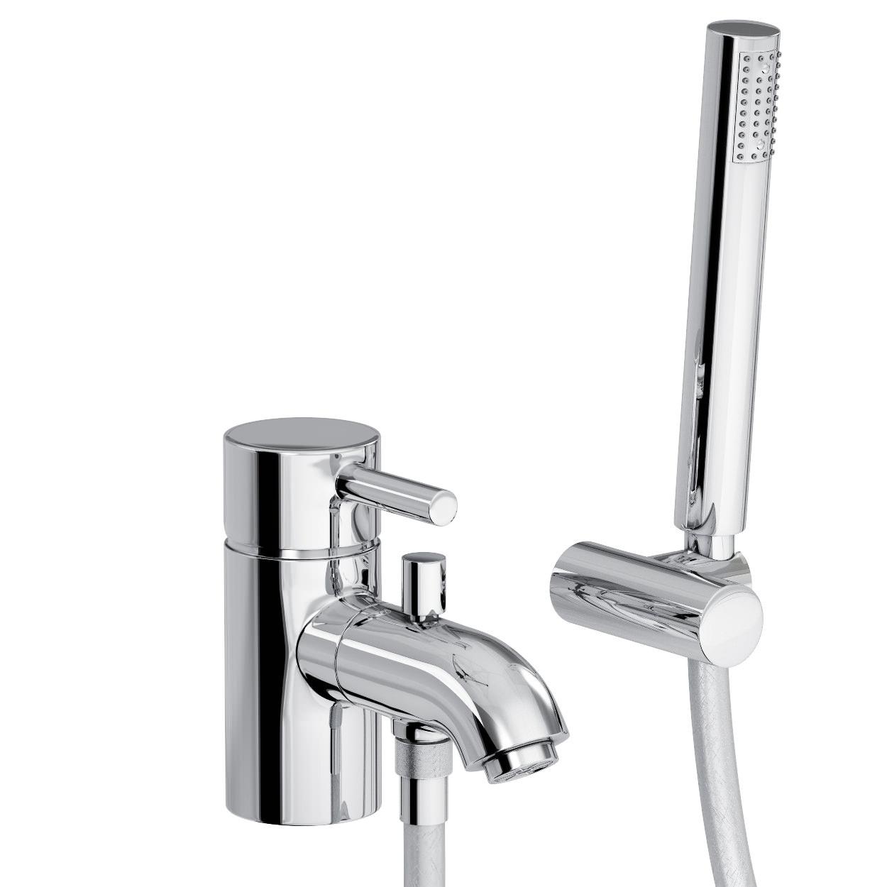Abode Harmonie Monobloc Bath Shower Mixer Tap With Handset