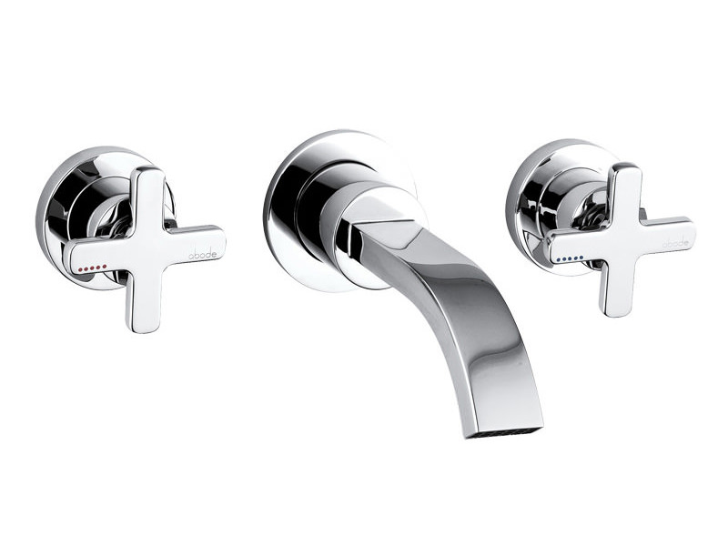 Serenitie Wall Mounted 3 Tap Hole Bath Mixer Tap Chrome